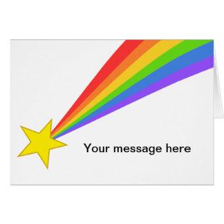 Rainbow Shooting Star Card