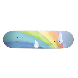 Rainbow Shower Skateboard Deck