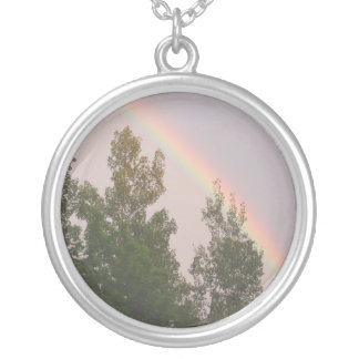 Rainbow Silver Plated Necklace