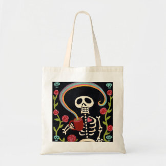 Rainbow Skelly Tote Bag