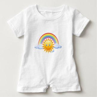 Rainbow Skies Office Personalize Destiny Destiny'S Baby Romper