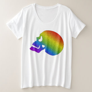 Rainbow Skull Plus Size shirt