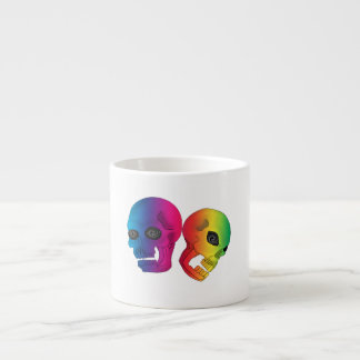 Rainbow Skulls Espresso Cup