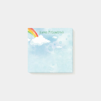 Rainbow Sky Add Name 3x3 Post-it Notes