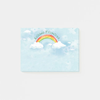 Rainbow Sky Add Name 4x3 Post-it Notes