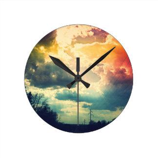 Rainbow Sky Clock
