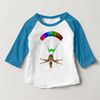 Rainbow Skydiving by The Happy Juul Company Baby T-Shirt