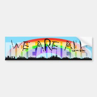 Rainbow Skyline Daca Dreamers 2 Bumper Sticker
