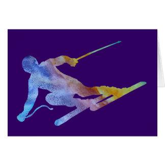 Rainbow Slalom Card
