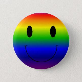 Rainbow Smiley 2 Inch Round Button