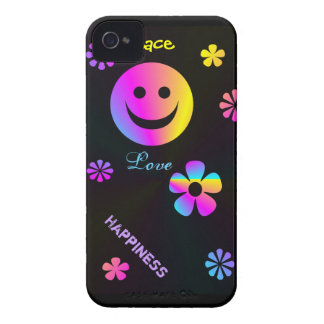 Rainbow Smiley  Blackberry Bold 9700/9780 Case Case-Mate iPhone 4 Cases