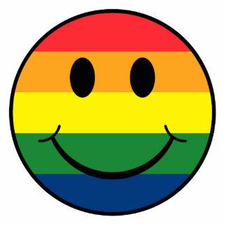 Rainbow Smiley Photo Sculpture Ornament
