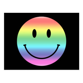 Rainbow Smiley Postcard