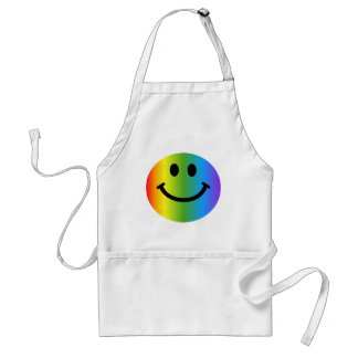 Rainbow Smiley Standard Apron