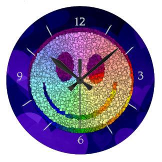 Rainbow Smiley Wall Clock
