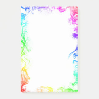 Rainbow Smoke Post-It Notes