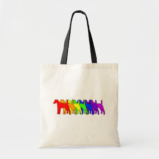 Rainbow Smooth Fox Tote Bag