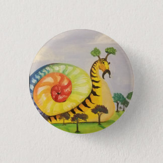 rainbow snail 1 inch round button