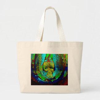 Rainbow Snake Large Tote Bag