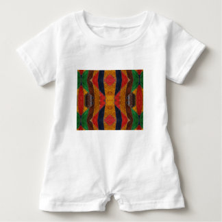 Rainbow Snake leather pattern Baby Romper
