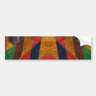 Rainbow Snake leather pattern Bumper Sticker