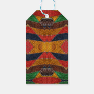 Rainbow Snake leather pattern Gift Tags