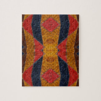 Rainbow Snake leather pattern Jigsaw Puzzle