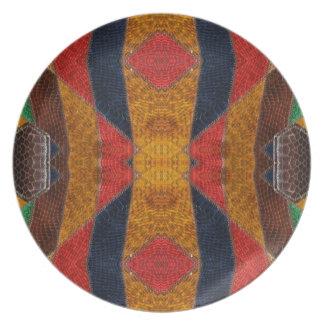 Rainbow Snake leather pattern Plate