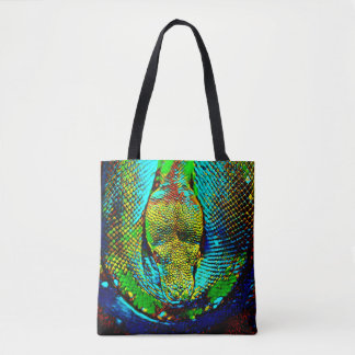 Rainbow Snake Tote Bag