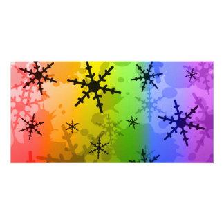 Rainbow Snowflake Card