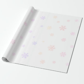 Rainbow snowflakes wrapping paper