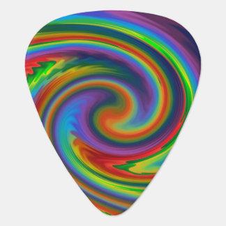 Rainbow Solar Glow Guitar Pick