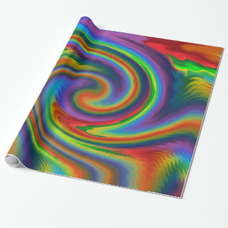 Rainbow Solar Glow Wrapping Paper