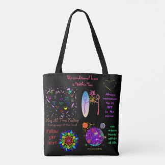 Rainbow Soul Embracing Self-Love Totebag Tote Bag