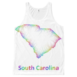 Rainbow South Carolina map