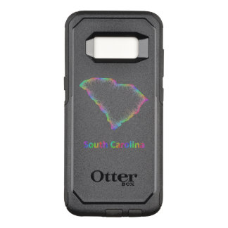 Rainbow South Carolina map OtterBox Commuter Samsung Galaxy S8 Case
