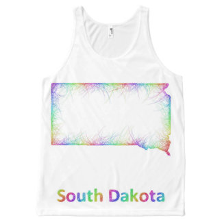 Rainbow South Dakota map