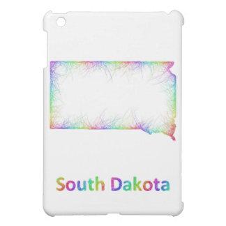 Rainbow South Dakota map Case For The iPad Mini