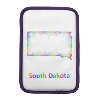 Rainbow South Dakota map iPad Mini Sleeves