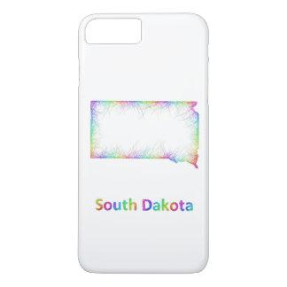 Rainbow South Dakota map iPhone 7 Plus Case