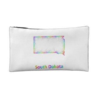 Rainbow South Dakota map Makeup Bag