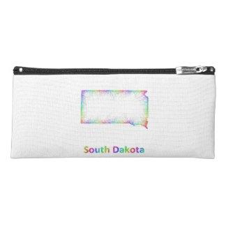 Rainbow South Dakota map Pencil Case