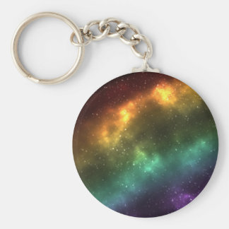 Rainbow Space Galaxy Print Keychain