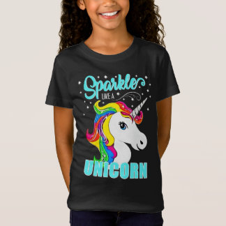 Rainbow Sparkle Like a Unicorn Stars T-Shirt