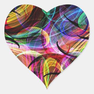 Rainbow Spash Heart Sticker