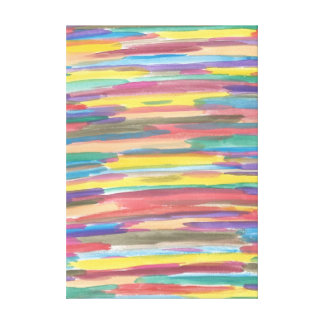 Rainbow Spectrum Art Abstract Canvas Print