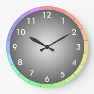 Rainbow Spectrum Color Contemporary Designer Clock