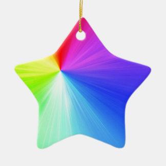 Rainbow spectrum design ceramic star ornament