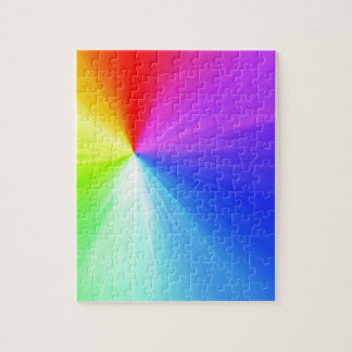 Rainbow spectrum design jigsaw puzzle