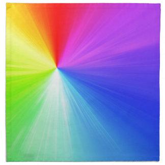Rainbow spectrum design napkin